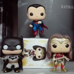 Wholesale Dawn Women - Batman VS Superman Funko POP Knightmare Batman 89# Wonder Woman DC Dawn of Justice Heroes 10cm PVC Collection Model Toy In stock