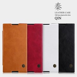 Wholesale Xperia Protective Cover - Case for Sony Xperia XA1 Ultra NILLKIN QIN Series leather case luxury brand protective cover with Retail Package
