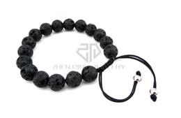 Wholesale Volcanic Clay - Fashion Black Clay Bracelet 10mm Lava Stone Diffuser Jewelry Natural Volcanic Rock Charm Bracelets Prayer Beads Bracelet