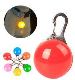 Wholesale Dog Collar Charm Accessories - Pet Night Safety LED Flashlight coller bell Push Button Switch Glow In Dark Bright Pets Supplies Accessories Cat Dog Collar Leads Lights