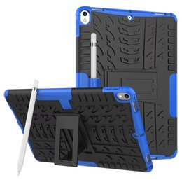 Wholesale Pro Back - Kickstand Hybrid Cases Shockproof TPU PC Defender Hard Back Cover For iPad 5 6 iPad Air 2 Pro Mini 1 2 3 4 LG G Pad 3 V525