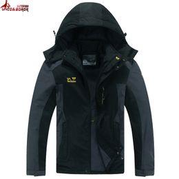 Wholesale Men S Jacket 7xl - Wholesale- UNCO&BOROR Brand clothing Big size L~6XL,7XL,8XL spring autumn mens outwear waterpfoof jacket Trekking Windproof Fleece jacket