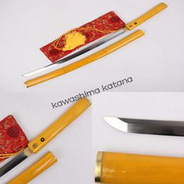 Wholesale Sword Katana Samurai - Free Shipping Handmade 1095 Carbon Steel Samurai Sword Katana Sharp Edge Wood Saya Tsuka