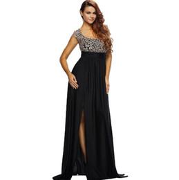 Wholesale Low Cut Chiffon Evening Dress - new fashion Women's clothing Woman sexy Low-cut Short sleeve Hollow Backless Back zipper Lace Paige Longuette Evening dress dresses 60809
