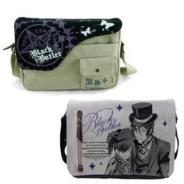 Wholesale Sling Rucksack - Wholesale- Anime Black Butler Canvas Handbag Messenger Shoulder Bag Sling Pack School Rucksack Cosplay