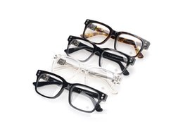 Wholesale Model Eyeglasses - Top brand designer fashion Chrome Eyeglass female HEY JACKULATE-A woman man models retro style Silver Vintage Optical Glasses with case
