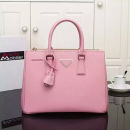 Wholesale Messenger Bags Logo - Wholesale- New fashion real cowhide genuine leather saffiano bags for women messenger high quality famous brand designer handbags with logo