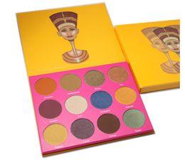 Wholesale Eye Shadows High Quality - High quality! 12 Color Fashion Women Place masquerade magic Nubian 2 Yellow Eye Shadow Palette Makeup Matte Nake Eyeshadow free shippin