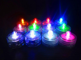 Wholesale Blue Waterproof Led Tea Lights - Waterproof Submersible LED Tea Lights Electronic Candles Light For Wedding Birthday Party Vase Lamp Decoration ZJ0081