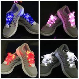 Wholesale Light Toys Sale - Wholesale- 20pcs lot hot sale Nylon light up LED Shoelaces Flash Glow safety multicolor Shoestring Stick Strap Laces Party Christmas toy