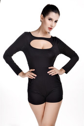 Wholesale Jumpsuit Fashion Show - Plus Size Hot style suit conjoined shorts to cultivate one's morality show thin Backless sexy fashion jumpsuits Black white