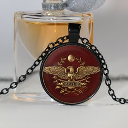 Wholesale Crystal Rome - Total War Rome Necklace Total War Rome Jewelry Glass Dome Pendant Necklace