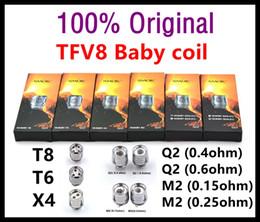 Wholesale Head Coils - 100% Original smokTFV8 Baby Coil Head T8 X4 Q2 Beast Coil Core for baby tank SMOKTFV8 Coils TFV4 MTL Coil