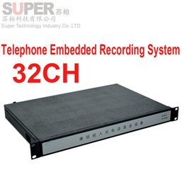 Wholesale ip functions - Wholesale- 1000GB memory 32 channel embeded telephone recorder,IP remote monitor function telephone monitor enterprise use telephone logger