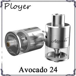 Abacate 24 ponta de gotejamento on-line-GeekVape Abacate 24 RDTA Atomizador 5ml Abacate 24 Tanque com deck Velocity com sistema de enchimento com trava de dobradiça 2 Drip Tip Opções 0266075