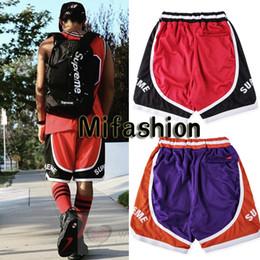 Wholesale Mesh Basketball Shorts - Europe fashion Box Logo casual CURVE BASKETBALL SHORT Mesh Pants Sport Skateboard Polyester Shorts
