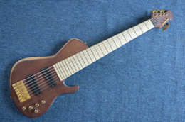 Wholesale China Guitars For Sale - Wholesale- New Arrival China Custom Shop 7 String Electric Bass Guitars Gold Hardware For Sale