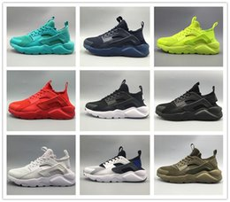 Wholesale Newest Running Shoes - Newest 2017 air Huarache IV Running Shoes For Men Women, Black White High Quality Sneakers Triple Huaraches Jogging Sports Shoes Eur 36-46