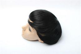 Wholesale Order Black Wigs - black color 8x10 size Stock order 100% Brazilian virgin human hair natural wave men toupee human hair short wig toupee