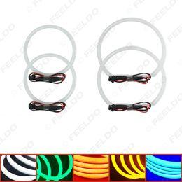 Wholesale E46 Lights - FEELDO Car Angel Eye Light Halo Ring Cotton Light Error Free LED SMD For BMW E46 NON Projector 5-Color #1465