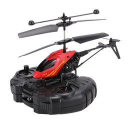 Wholesale Rc Systems - Remote Control Aircraft Mini RC Helicopter Shatter Resistant Flight Toys With Gyro System Night Flight Helicopter