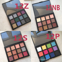 Wholesale Easy Tone - no logo 12 color eyeshadow palette Square disk 4 different color team for choie earth tone smoky warm tone makeup cosmetics