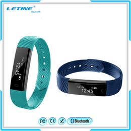 Wholesale Wristband For Mobile Phone - Hot selling bluetooth smart wrist band waterproof wrist watch mobile phone ID115 Sport Fitness Activity Tracker Smart wristband