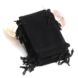 Wholesale Cloth Earrings - velvet jewelry pouch gift present package fit for necklace bracelet earring cloth Bag 7*9cm