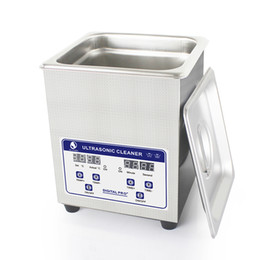 Wholesale Digital Heated Ultrasonic Cleaner - Laboratory Digital Ultrasonic Cleaner 2L Cleaning Tank 60W 40kHz Baskets Jewelry Watches Dental Lavatrice Ultrasuoni Heated Ultrasonic Bath