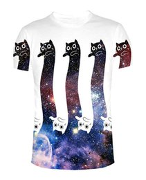 Wholesale Infinity Shorts - To the Infinity and Beyond T-Shirt Cat Kitten kitty cats Animal Galaxy Space Tops Women Men tees Summer Style Outfits