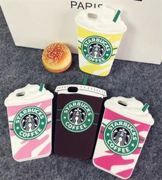 Wholesale Silicon Case Galaxy S3 - 3D Cartoon Starbuck Coffee Cup Silicon Case For iPhone 4S 5S 6 6S 7 Plus For Samsung Galaxy S3 S4 S5 S6 S7 edge Note 3 4 5 J5