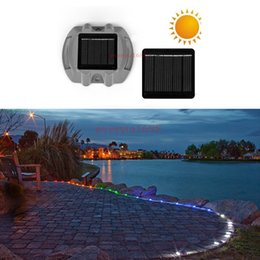 Wholesale Led Solar Decking Lights - Solar Power LED lights Path Driveway Pathway Deck Light Outdoor Garden Road Dock Lamp 6Leds 500M Visible Distance Security Light