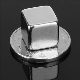 Wholesale Magnets Mm - N50 20pcs 10X10x10 mm Square Rare Earth Cube Block Neodymium Super Strong Magnet Powerful Can be applied to many Fields DIY