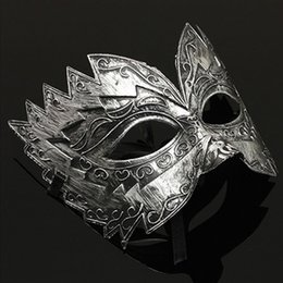 wholesale halloween costume fancy party roman gladiator masked ball masquerade eye mask store 48 - Halloween Supply Store