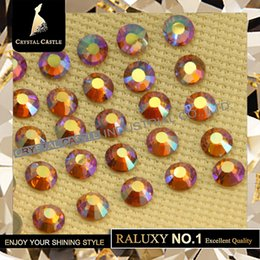 Wholesale Hotfix Strass - Luxury Grade AAAAA Effect Color AB Nail Glass Crystal Strass Hotfix Wedding Decoration Hot Fix Rhinestone For Clothing shoes