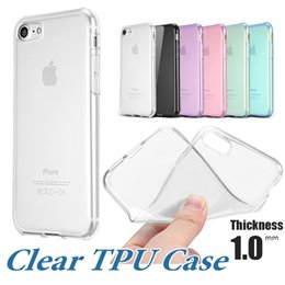 Wholesale Bag Thickness - For iPhone X 8 Plus Clear Soft TPU Case 1.0mm Thickness Crystal Gel Rugged Protective Case For Note 8 Samsung S8 OPP Bag