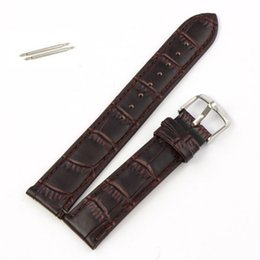 Wholesale watch band buckles wholesale - Wholesale-Essential Black Brown High Quality Soft Sweatband PU Leather Strap Steel Buckle Wrist Watches Band Width18mm 20mm 22mm