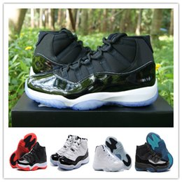 Wholesale Navy White Striped - High Quality Retro 11 Space Jam 45 Bred Gamma Blue Basketball Casual Shoes Men Women 11s Concords Midnight Navy Legend Blue Sports Sneaker