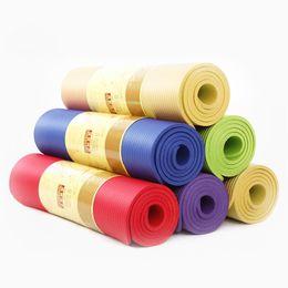 Wholesale Pvc Mat Yoga - Wholesale-2016 10MM NBR Yoga Mat For Beginners And Tasteless Anti Slip Colchoneta Yoga for Fitness Dance Pad 183x61cm