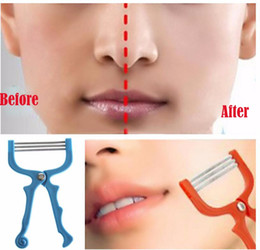 Wholesale Threading Tool Facial Hair Removal - Handheld Facial Hair Removal Threading Spring Rolled Face Beauty Epilator Tools Facial Hair Removal Make Up Face Care Massager