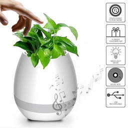 Wholesale Mini Flower Pots Gifts - Smart LED Wireless Bluetooth Speaker Music Flower Pot Touch Plant Speaker Wireless Smart Lounspeaker for Anxiety Stress Relief Gift