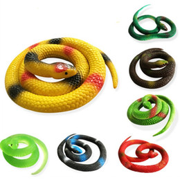 Wholesale Funny Jokes Halloween - Party Joke Funny Gags Trick Toy Halloween Gift Tricky Funny Spoof Toy Simulation Soft Scary Fake Snake Rubber Horror Toy