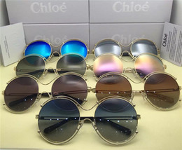 Wholesale Variety Frames - 2017 fashion tide brand Chloe CL122S round fashion sunglasses trendy summer sunglasses a variety of colors optional