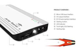 Wholesale 12v Led Car Flashlight - Mobile power 8000 can also start the car car starter mAh multi-U output with LED flashlight 12V super high power starter charge Po battery i