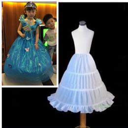 Wholesale Crinoline Slips For Girls - Flower Girl Kids Petticoat Children Crinoline Undersakirt Slip for Little Girl 55cm Long 3-Hoops High Quality Fast Shipping