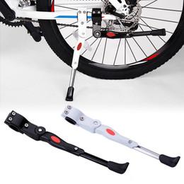 Bicicleta de apoio on-line-Bicicleta de Estacionamento Cremalheira Kickstand Heavy Duty Ajustável Mountain Bike Ciclo de Bicicleta Prop Lateral Traseira Chute Stand Acessórios Para Bicicletas
