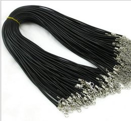 Wholesale Tibet Choker Necklaces - Leather Necklace Snake Beading Cord String Rope Wire Jewelry Cheap Chain With Lobster Clasp Components for statement locket choker necklaces