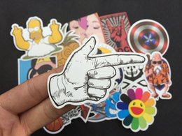 Wholesale Motorcycles Sticker - Awesome Laptops Stickers Pack of 100pcs Vinyl Graffiti Decals Best Quality- Perfect for Macbooks ,Cars , Motorcycles, Luggage, Skatebord