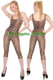 Catsuit do lycra do leopardo on-line-Sexy Leopardo Padrão Curto Corpo Terno Nova Lycra Spandex Leopardo Catsuit Trajes Unissex Bodysuit Trajes Cosplay Halloween Cosplay Terno M065