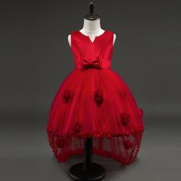 vestidos de adolescente roxos Desconto Crianças elegantes Meninas partido Desgaste Do Traje Para As Crianças Vestido De Casamento Da Dama De Honra Roxo Vestido Formal Meninas Adolescentes Crianças Roupas de Baile